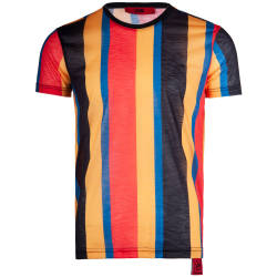 Saw - Saw - Stripes Siyah - Sarı T-shirt