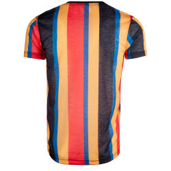 Saw - Stripes Siyah - Sarı T-shirt - Thumbnail