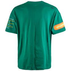 Saw - Bird Oversize Yeşil T-shirt - Thumbnail