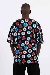 Saw -Button Badges T-Shirt Siyah - Thumbnail
