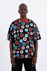 Saw - Saw -Button Badges T-Shirt Siyah
