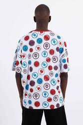 Saw - Button Badges T-Shirt Beyaz - Thumbnail