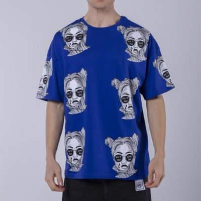 Saw - Saw - Espostoa Oversize Mavi T-shirt