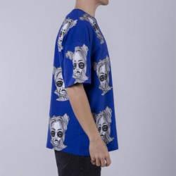 Saw - Espostoa Oversize Mavi T-shirt - Thumbnail