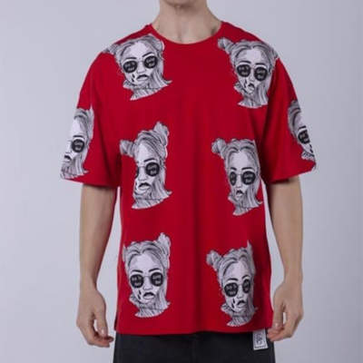 Saw - Espostoa Oversize Kırmızı T-shirt