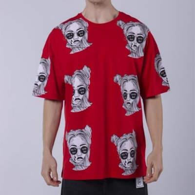 Saw - Saw - Espostoa Oversize Kırmızı T-shirt