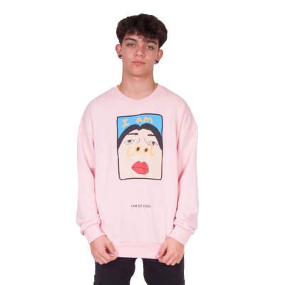 Saw - Saw - I'm So Cool Açık Pembe Sweatshirt