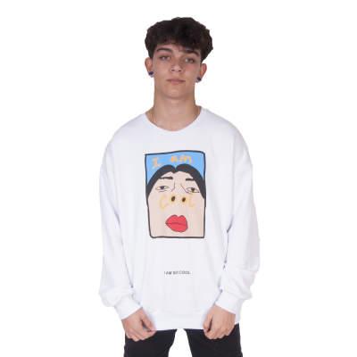 Saw - Saw - I'm So Cool Beyaz Sweatshirt