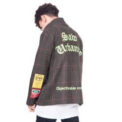 Saw - Saw - Kareli Haki Fermuarlı Ceket