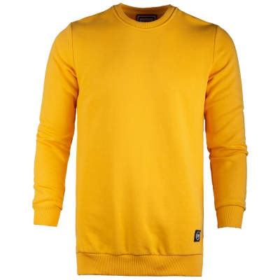 Saw - Long Basic Sarı Sweatshirt