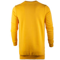 Saw - Long Basic Sarı Sweatshirt - Thumbnail