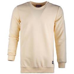 Saw - Saw - Long Basic Açık Sarı Sweatshirt