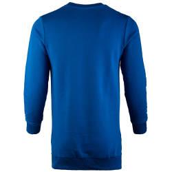 Saw - Long Basic Mavi Sweatshirt - Thumbnail