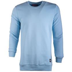 Saw - Long Basic Açık Mavi Sweatshirt - Thumbnail