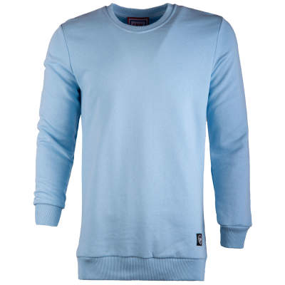 Saw - Saw - Long Basic Açık Mavi Sweatshirt