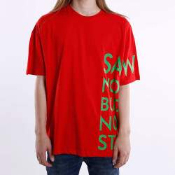 Saw - Saw Co. No Oversize Kırmızı T-shirt - Thumbnail