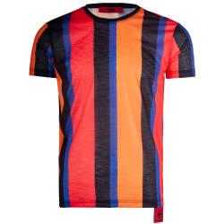 Saw - Stripes Siyah - Turuncu T-shirt - Thumbnail