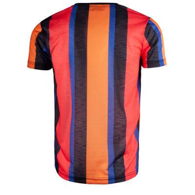 Saw - Stripes Siyah - Turuncu T-shirt