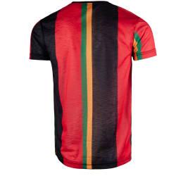 Saw - Stripes Siyah - Kırmızı T-shirt - Thumbnail