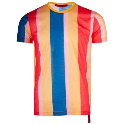 Saw - Stripes Sarı - Mavi T-shirt