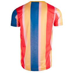 Saw - Stripes Sarı - Mavi T-shirt - Thumbnail
