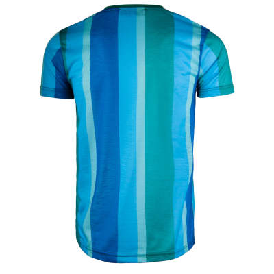 Saw - Stripes Yeşil - Mavi T-shirt