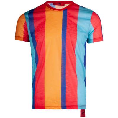 Saw - Stripes Kırmızı - Mor T-shirt