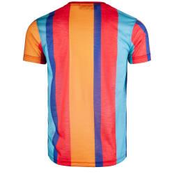 Saw - Stripes Kırmızı - Mor T-shirt - Thumbnail