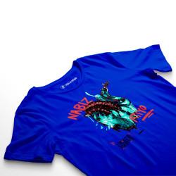 HollyHood - Şehinşah Heart Beat (Nabız) Mavi T-shirt - Thumbnail