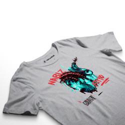 HH - Şehinşah Heart Beat (Nabız) Gri T-shirt - Thumbnail