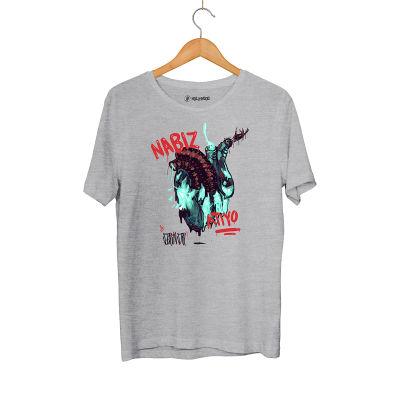 Şehinşah - HH - Şehinşah Heart Beat (Nabız) Gri T-shirt (Fırsat Ürünü)