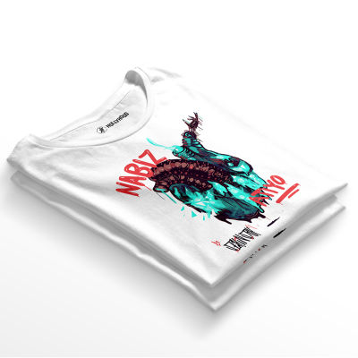 HH - Şehinşah Heart Beat (Nabız) Beyaz T-shirt