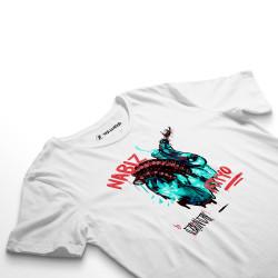 HH - Şehinşah Heart Beat (Nabız) Beyaz T-shirt (Fırsat Ürünü) - Thumbnail