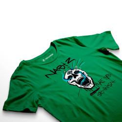 HH - Şehinşah Skull Beat Yeşil T-shirt - Thumbnail