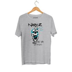 HollyHood - Şehinşah Skull Beat Gri T-shirt - Thumbnail