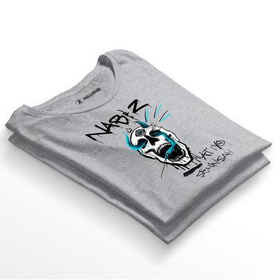 HH - Şehinşah Skull Beat Gri T-shirt (Fırsat Ürünü)