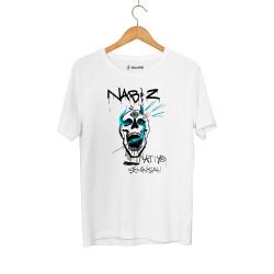 HollyHood - Şehinşah Skull Beat Beyaz T-shirt - Thumbnail