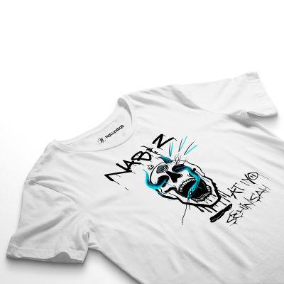 HH - Şehinşah Skull Beat Beyaz T-shirt (Fırsat Ürünü)