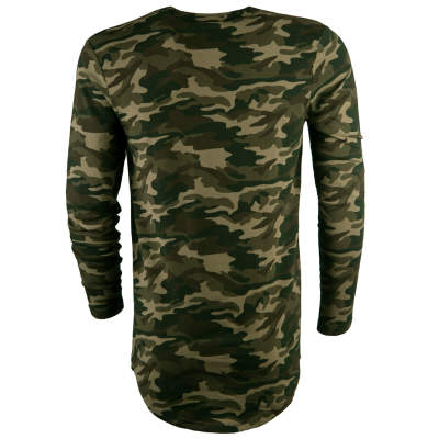 Siksilk - Broken Camo Yeşil Sweatshirt