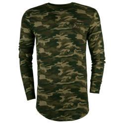 SikSilk - Siksilk - Broken Camo Yeşil Sweatshirt