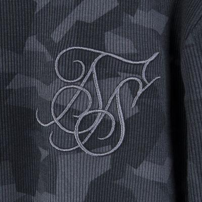 Siksilk - Broken Camo Gri Sweatshirt