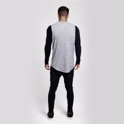 SikSilk - Rib Knit Gri & Siyah Sweatshirt - Thumbnail