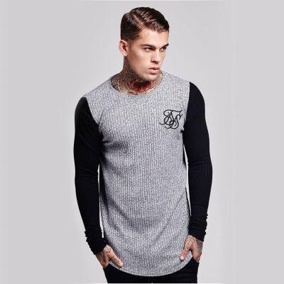 SikSilk - Rib Knit Gri & Siyah Sweatshirt