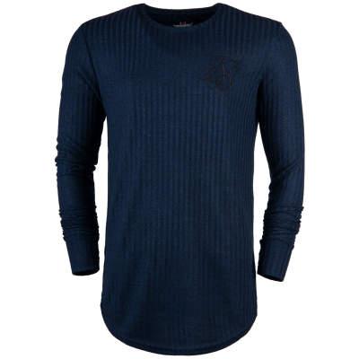 Siksilk - Rib Knit Lacivert Sweatshirt