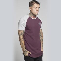 SikSilk - Siksilk - Raglan Bordo & Gri T-shirt