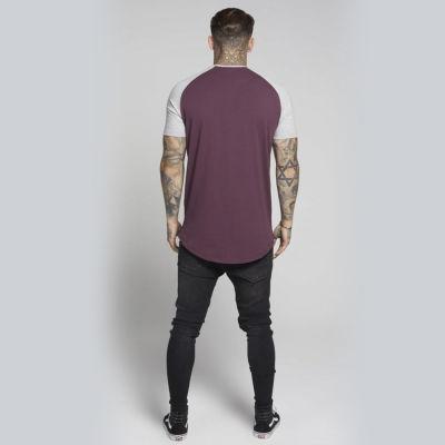 Siksilk - Raglan Bordo & Gri T-shirt