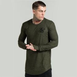 SikSilk - SikSilk - Rib Knit Haki Sweatshirt