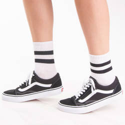 SA - Siyah Çizgili Beyaz Çorap - Thumbnail