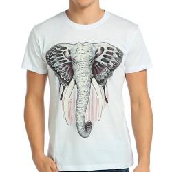 Bant Giyim - Elephant Fil Beyaz T-shirt - Thumbnail