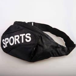 Sports Siyah Bel Çantası - Thumbnail